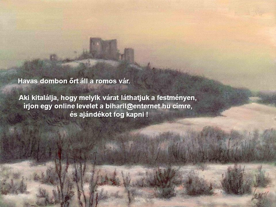 Havas dombon őrt áll a romos vár.