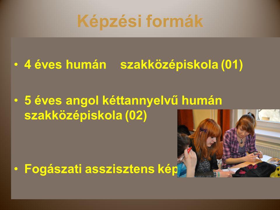 Képzési formák 4 éves humán szakközépiskola (01)