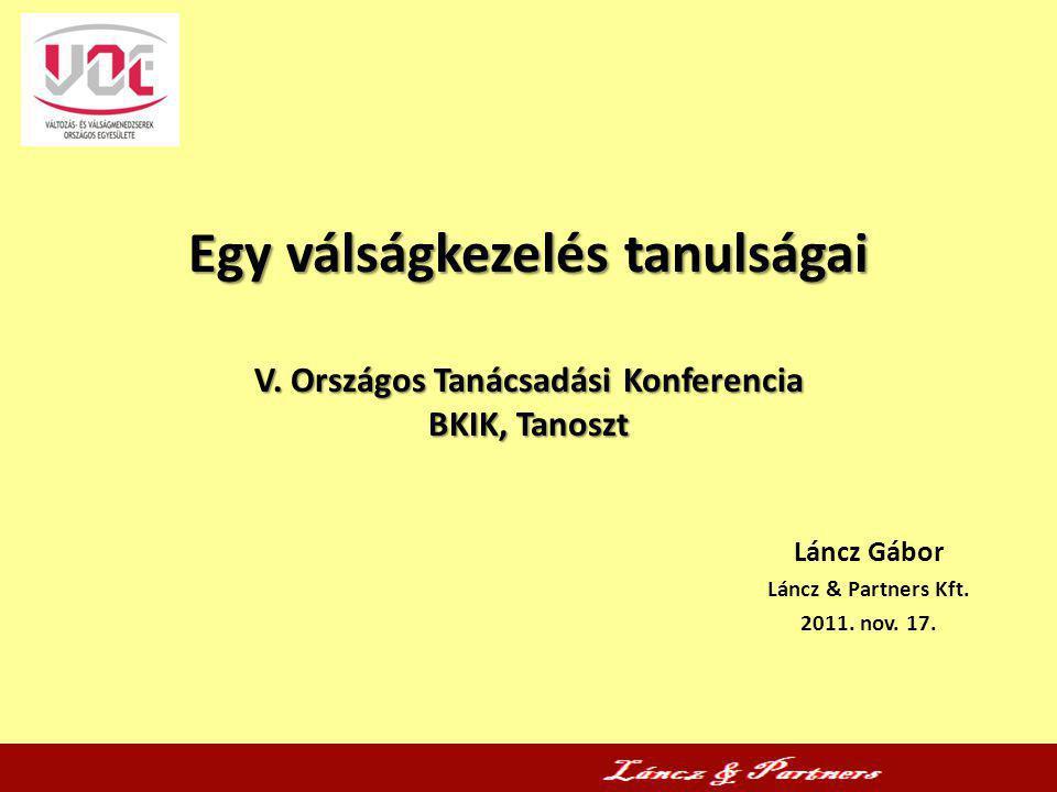 Láncz Gábor Láncz & Partners Kft. 2011. nov. 17.