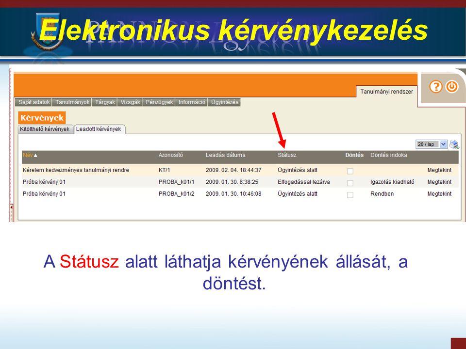 Elektronikus kérvénykezelés