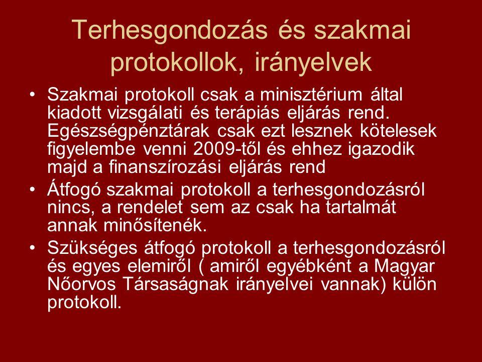 Terhesgondozás és szakmai protokollok, irányelvek