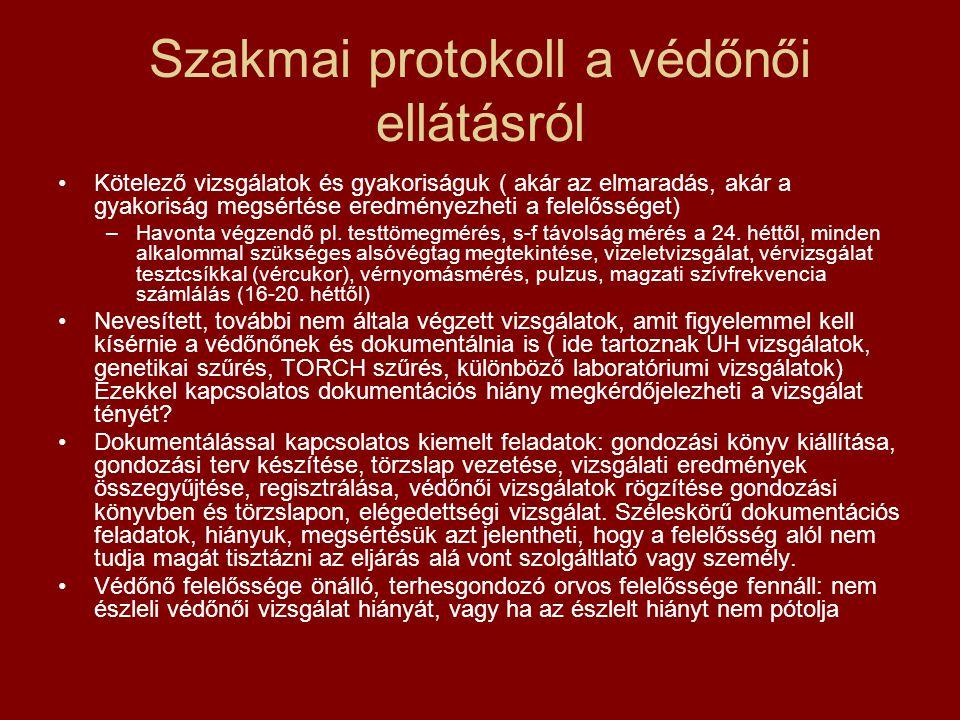 Szakmai protokoll a védőnői ellátásról