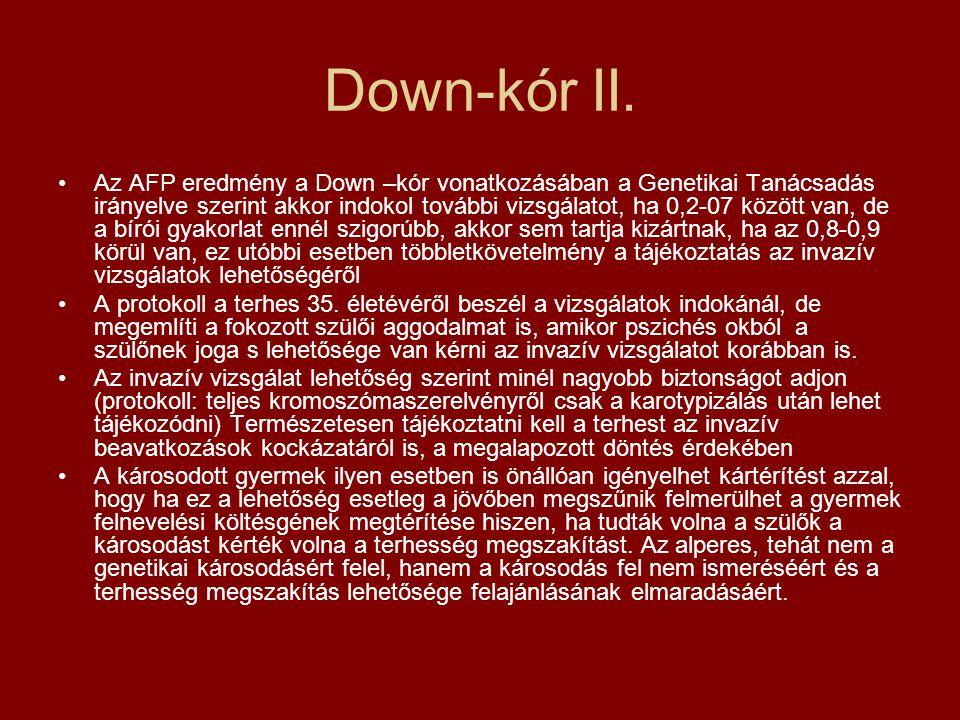 Down-kór II.