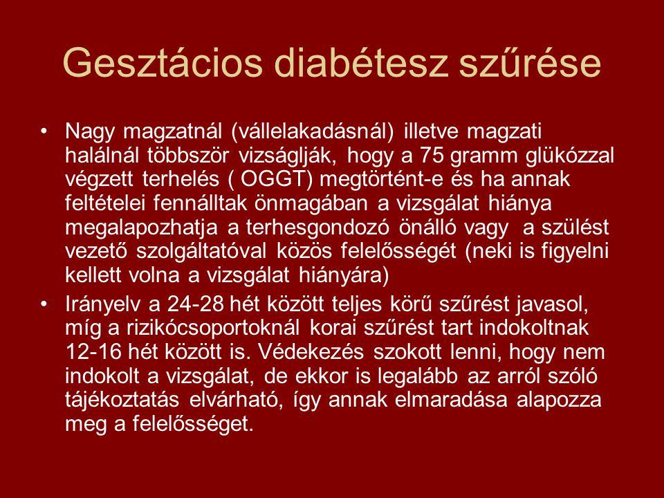 Gesztácios diabétesz szűrése