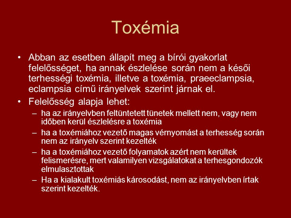 Toxémia
