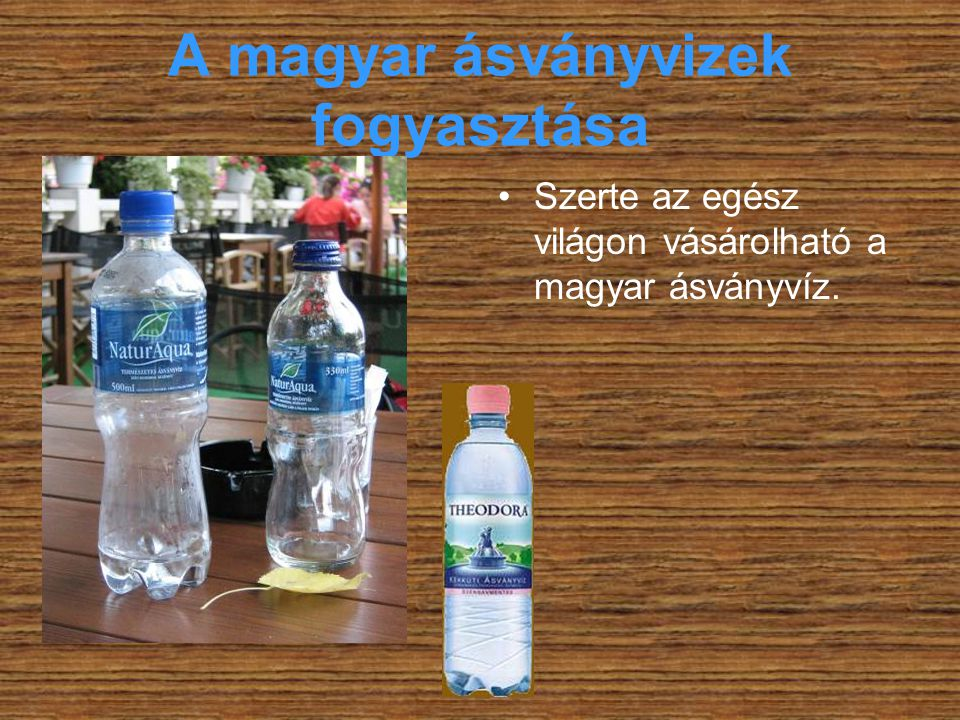 A magyar ásványvizek fogyasztása