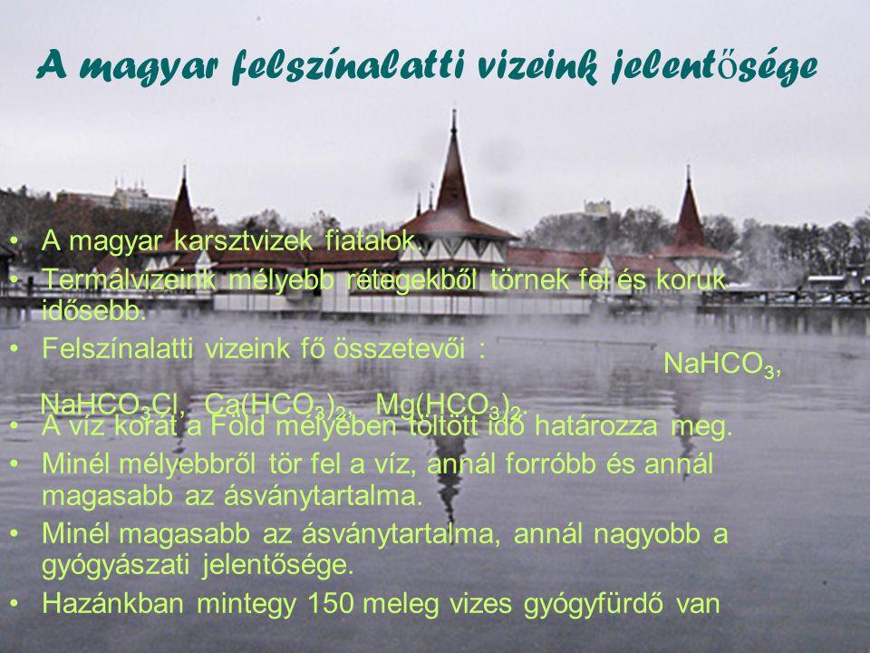 A magyar felszínalatti vizeink jelentősége