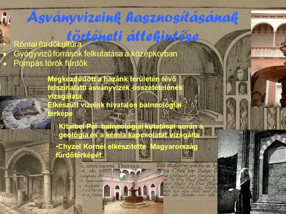 Ásványvizeink hasznosításának történeti áttekintése