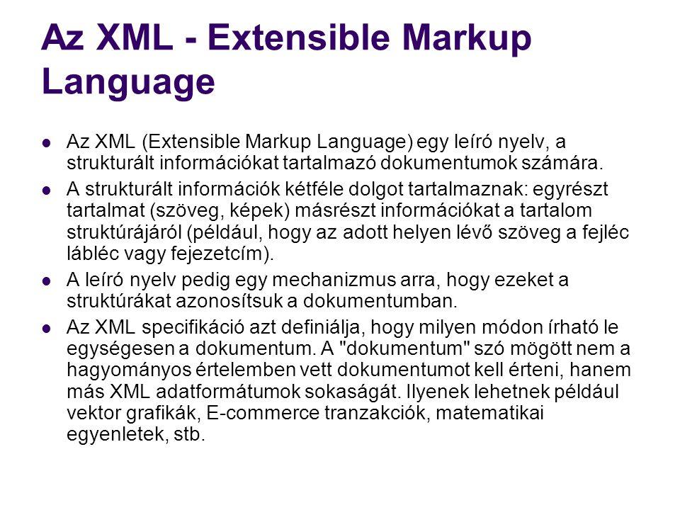 Az XML - Extensible Markup Language