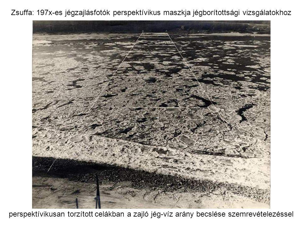 Zsuffa: 197x-es jégzajlásfotók perspektívikus maszkja jégborítottsági vizsgálatokhoz