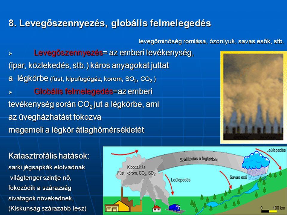 8. Levegőszennyezés, globális felmelegedés