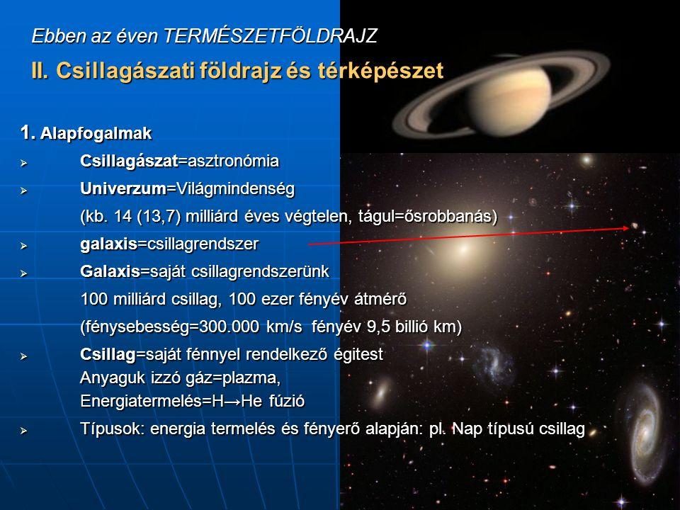 II. Csillagászati földrajz és térképészet