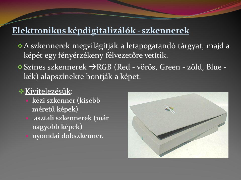 Elektronikus képdigitalizálók - szkennerek