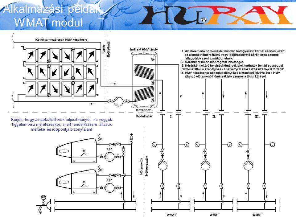 Alkalmazási példák WMAT modul