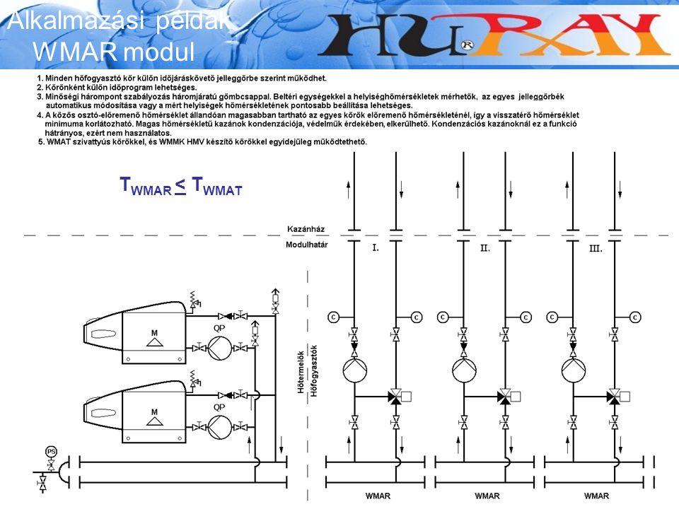 Alkalmazási példák WMAR modul TWMAR < TWMAT