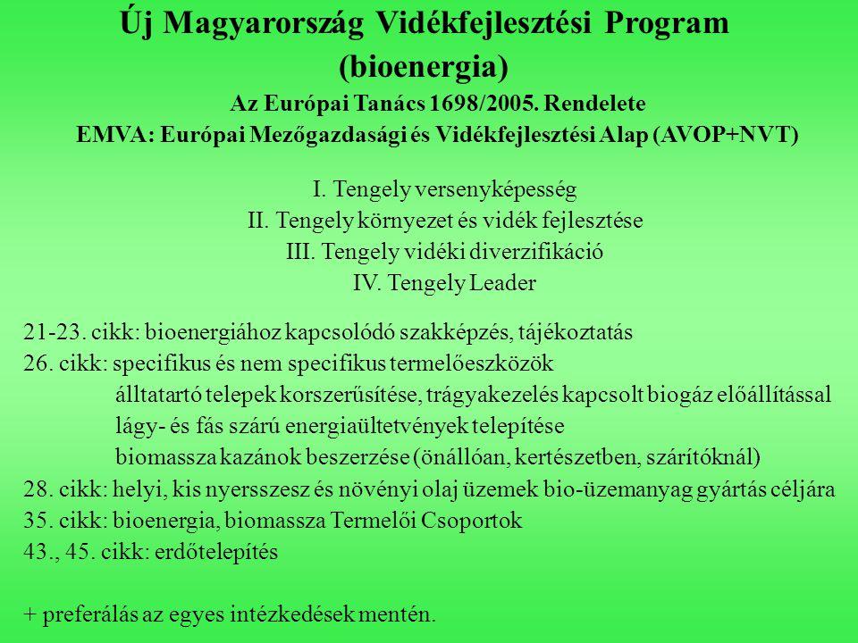 Új Magyarország Vidékfejlesztési Program (bioenergia)