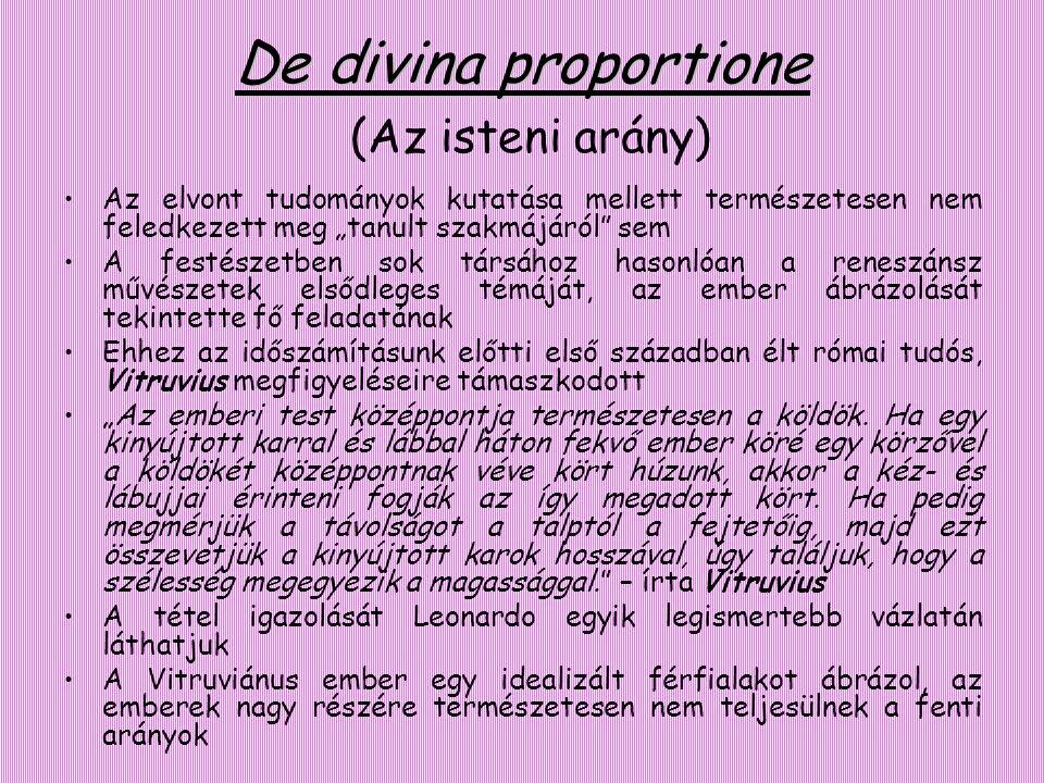 De divina proportione (Az isteni arány)