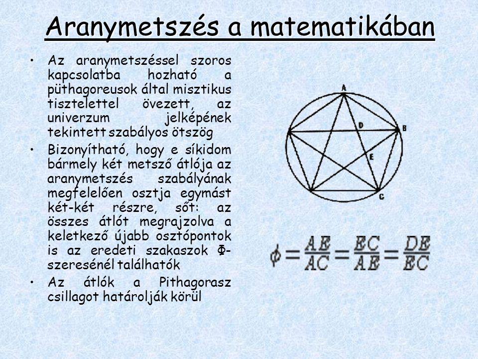 Aranymetszés a matematikában