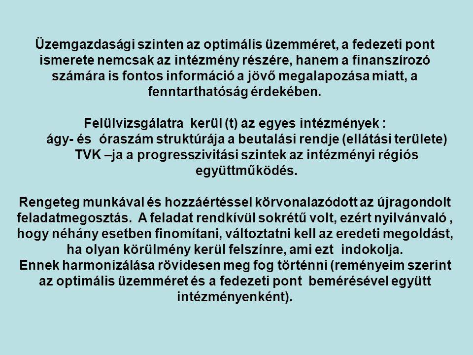 TVK –ja a progresszivitási szintek az intézményi régiós együttműködés.