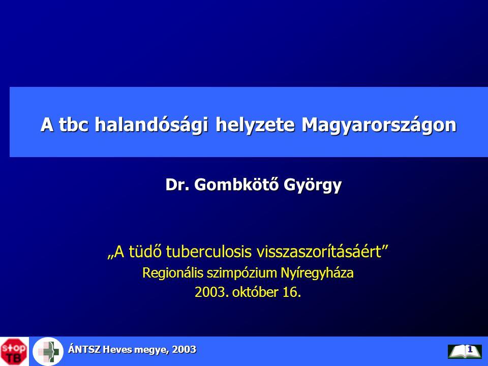 A tbc halandósági helyzete Magyarországon