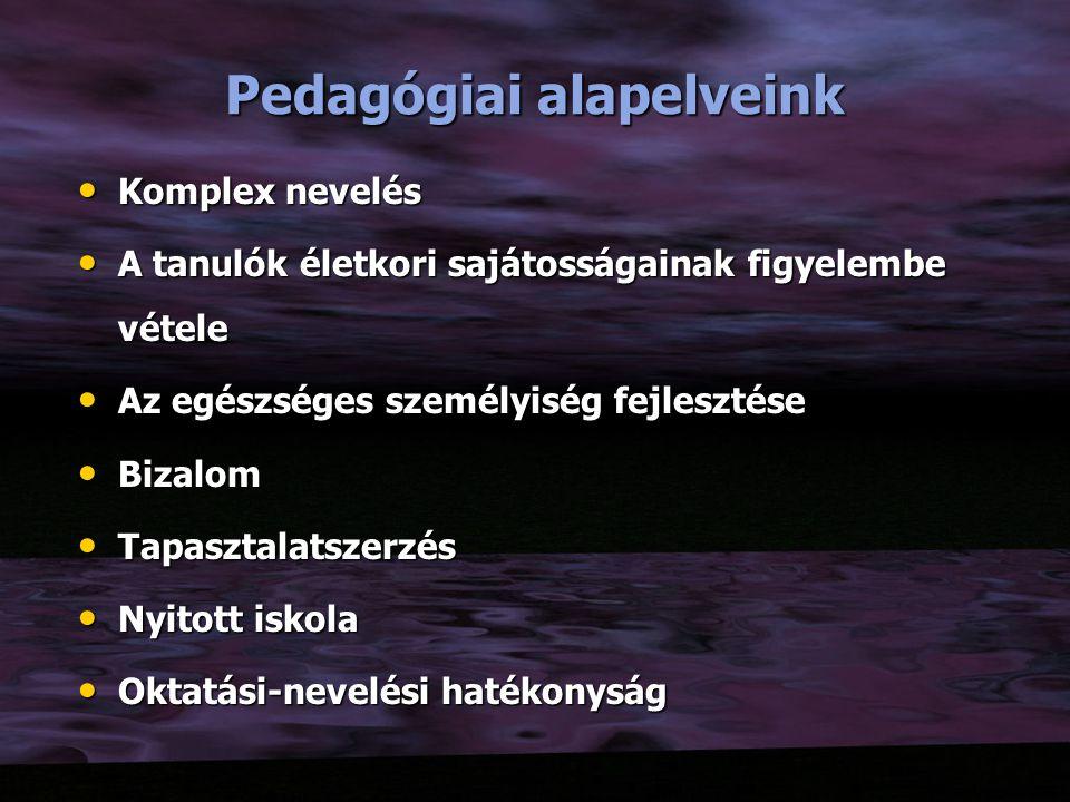 Pedagógiai alapelveink