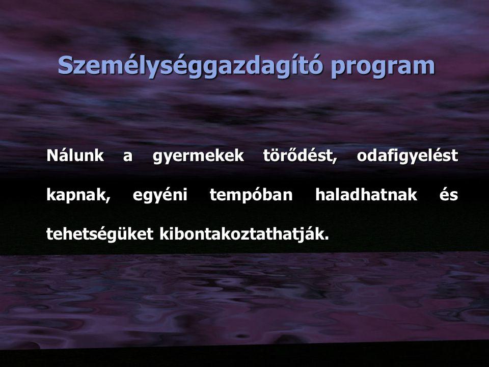 Személységgazdagító program