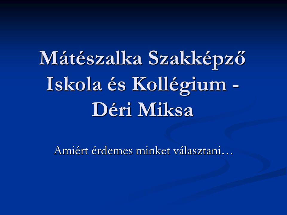 Mátészalka Szakképző Iskola és Kollégium - Déri Miksa