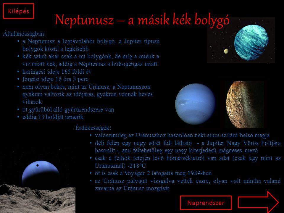 Neptunusz – a másik kék bolygó