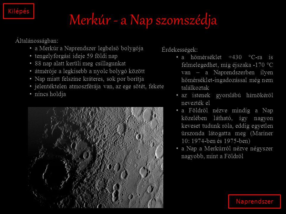 Merkúr - a Nap szomszédja