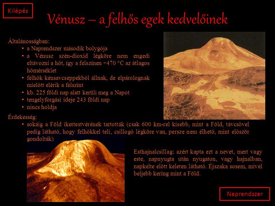 Vénusz – a felhős egek kedvelőinek