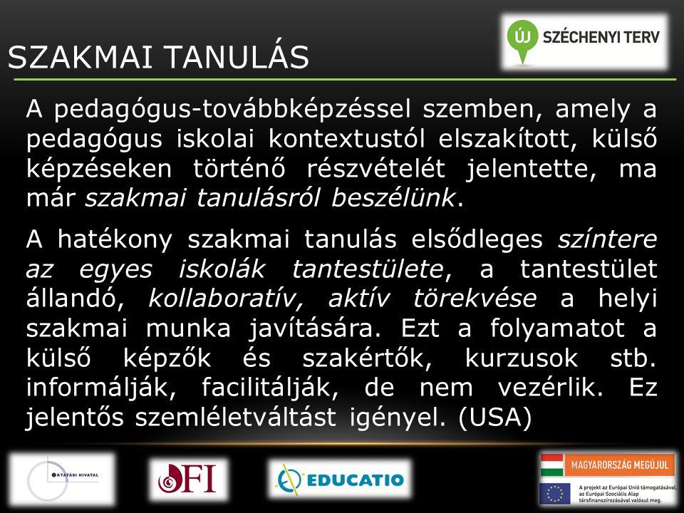 SZAKMAI TANULÁS