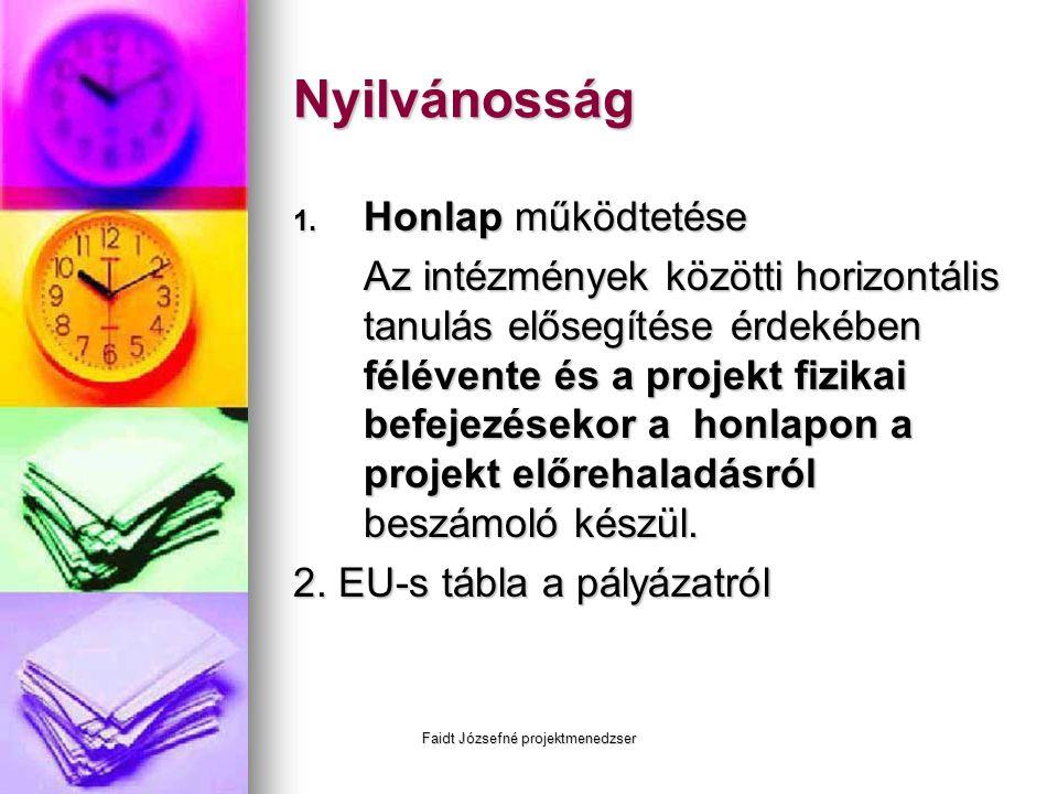 Faidt Józsefné projektmenedzser