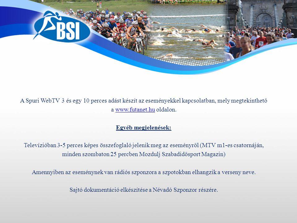 A Spuri WebTV 3 és egy 10 perces adást készít az eseményekkel kapcsolatban, mely megtekinthető a www.futanet.hu oldalon.