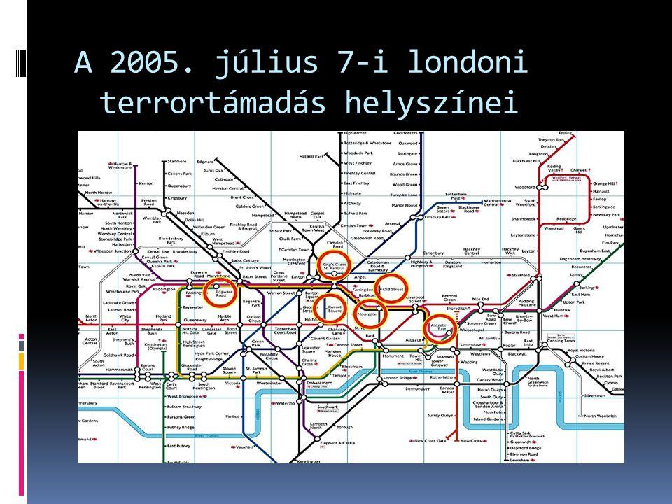 A 2005. július 7-i londoni terrortámadás helyszínei