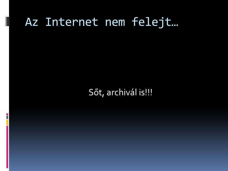 Az Internet nem felejt…