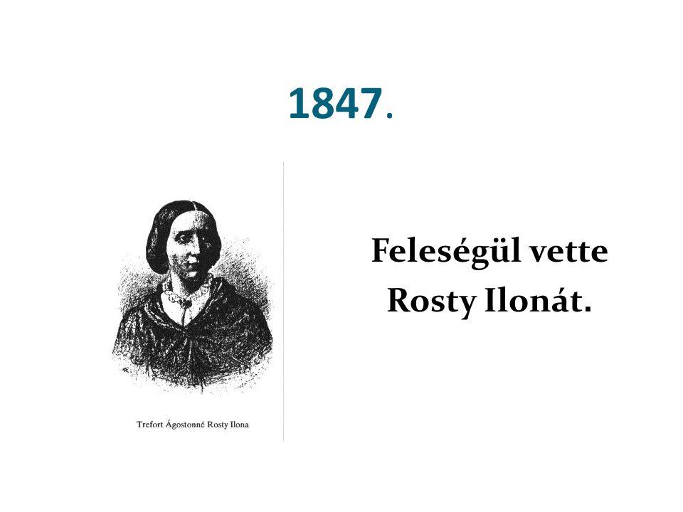 1847. Feleségül vette Rosty Ilonát.