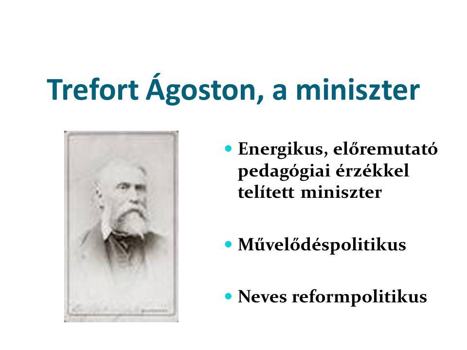 Trefort Ágoston, a miniszter