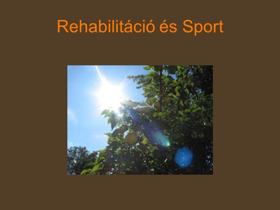 Rehabilitáció és Sport