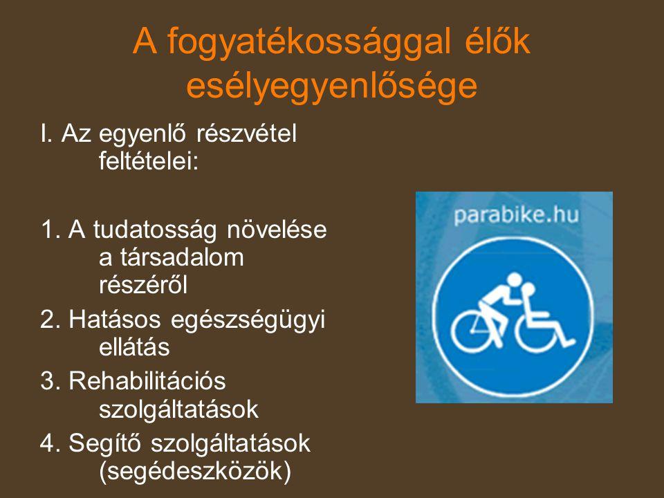 A fogyatékossággal élők esélyegyenlősége