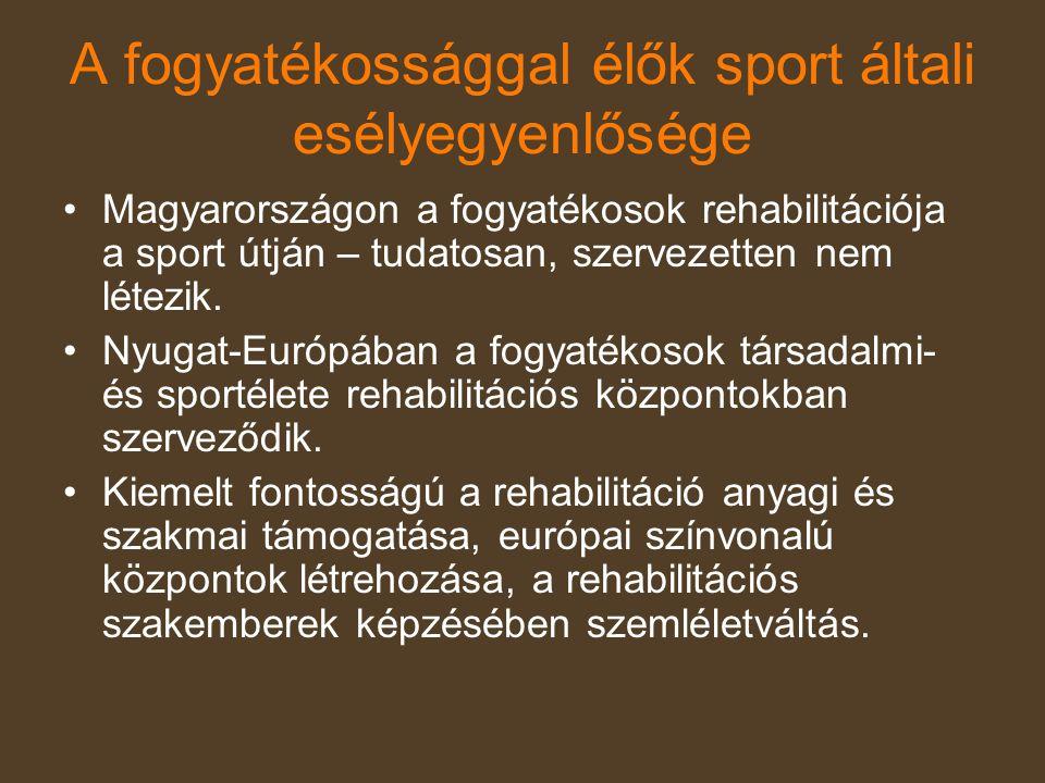 A fogyatékossággal élők sport általi esélyegyenlősége