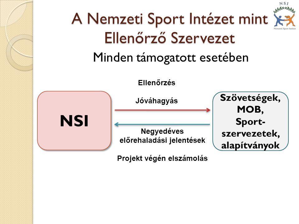 A Nemzeti Sport Intézet mint Ellenőrző Szervezet