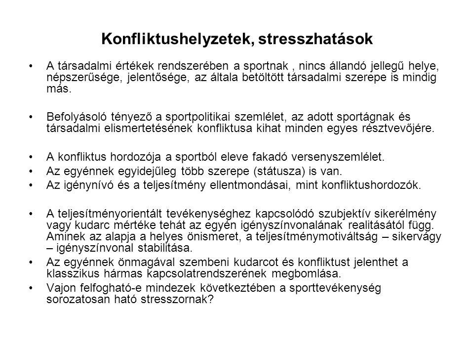 Konfliktushelyzetek, stresszhatások