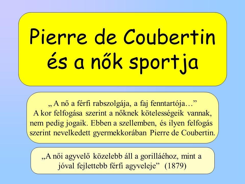 Pierre de Coubertin és a nők sportja