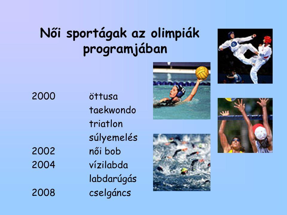 Női sportágak az olimpiák programjában