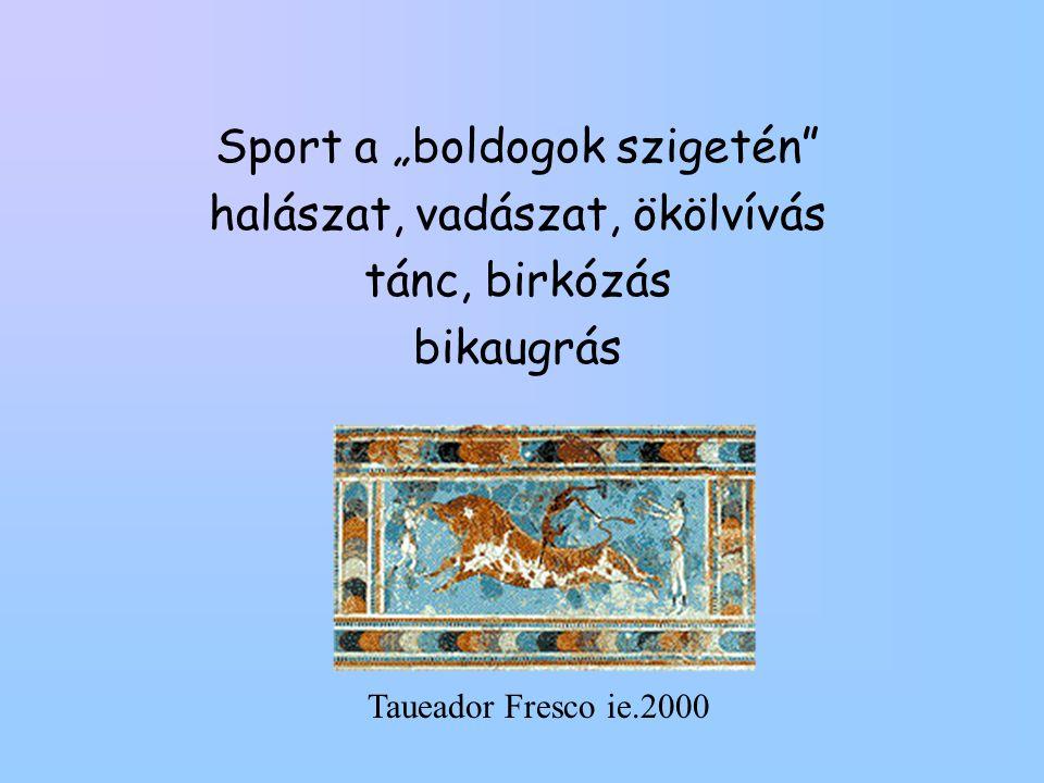 """Sport a """"boldogok szigetén halászat, vadászat, ökölvívás"""