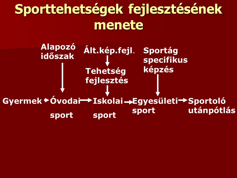 Sporttehetségek fejlesztésének menete