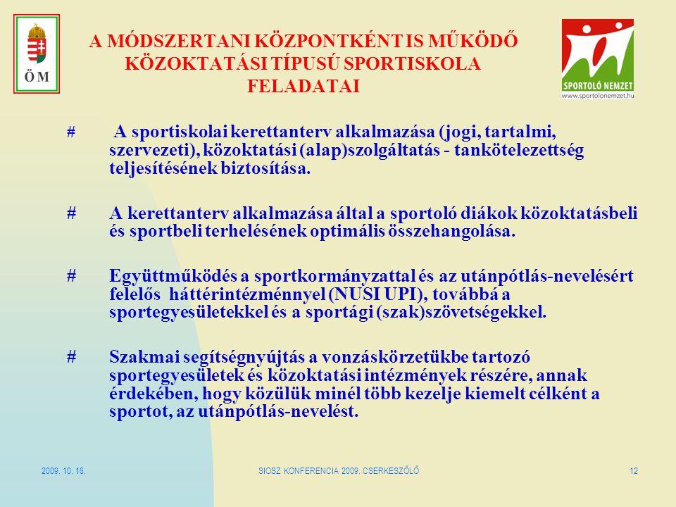 SIOSZ KONFERENCIA 2009. CSERKESZŐLŐ