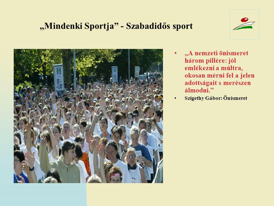 """""""Mindenki Sportja - Szabadidős sport"""