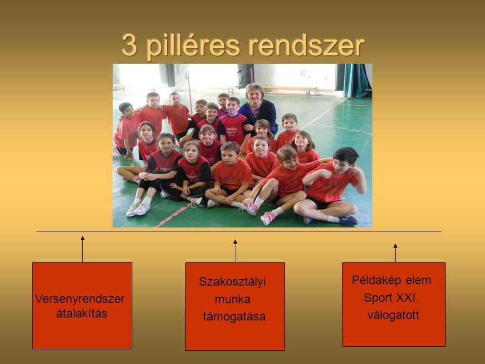 3 pilléres rendszer Szakosztályi Példakép elem Versenyrendszer munka
