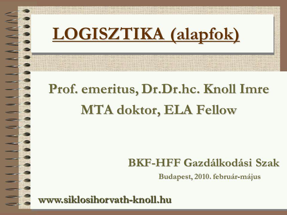 Prof. emeritus, Dr.Dr.hc. Knoll Imre Budapest, 2010. február-május